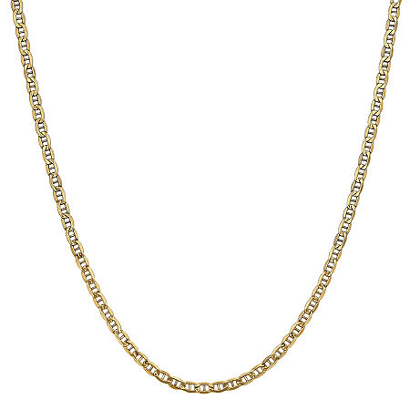 14K Gold 24 Inch Semisolid Anchor Chain Necklace, One Size , No Color Family