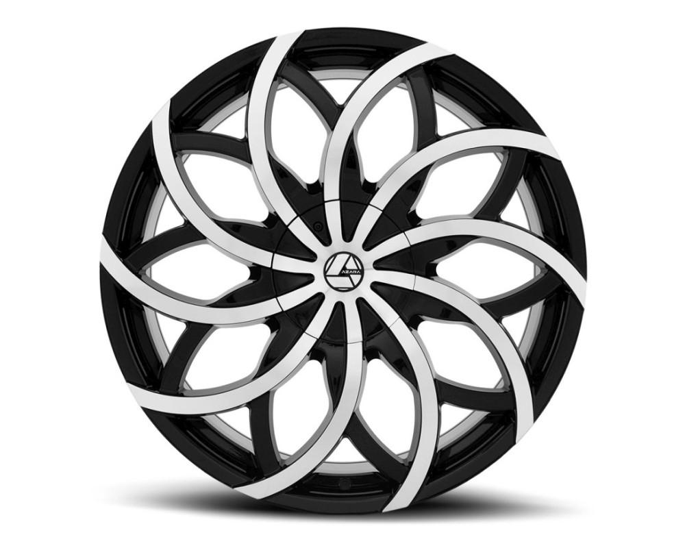 Azara 504 Wheel 22x8.5 5x114.3|5x120 38mm Gloss Black Machined