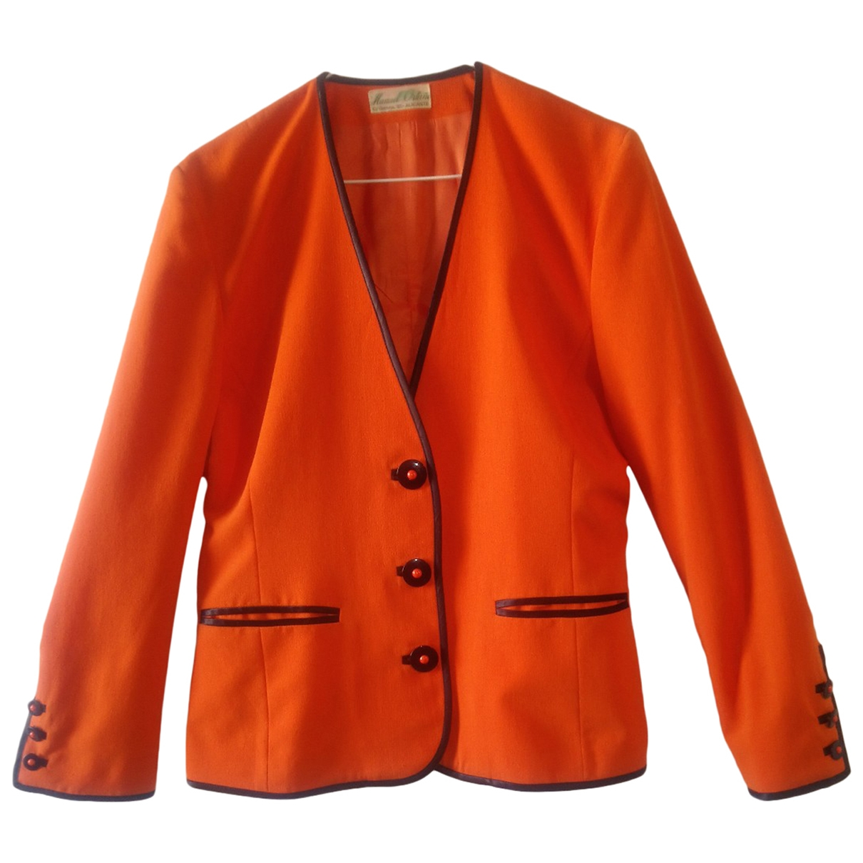 Non Signe / Unsigned \N Jacke in  Orange Polyester