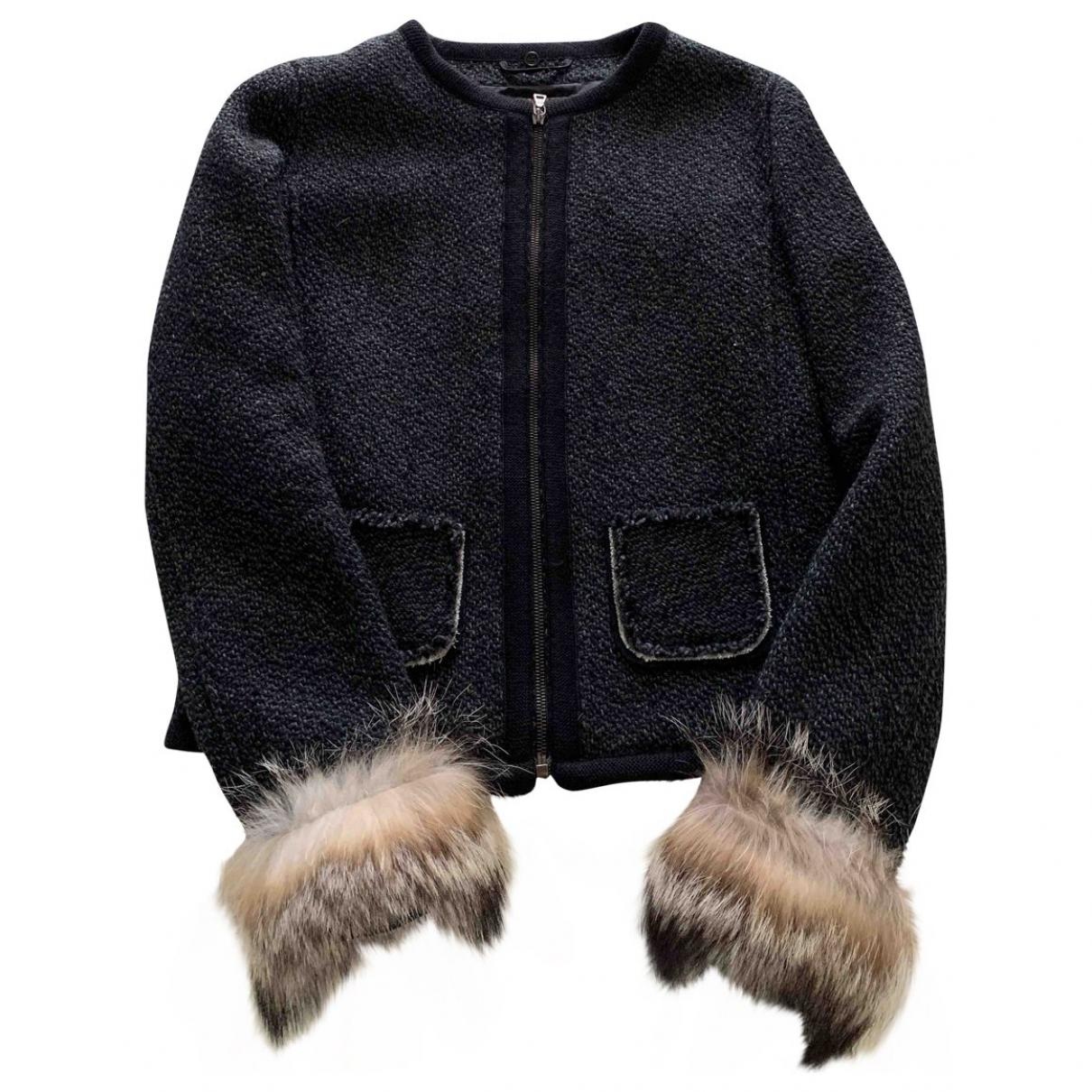 Prada \N Jacke in  Schwarz Wolle
