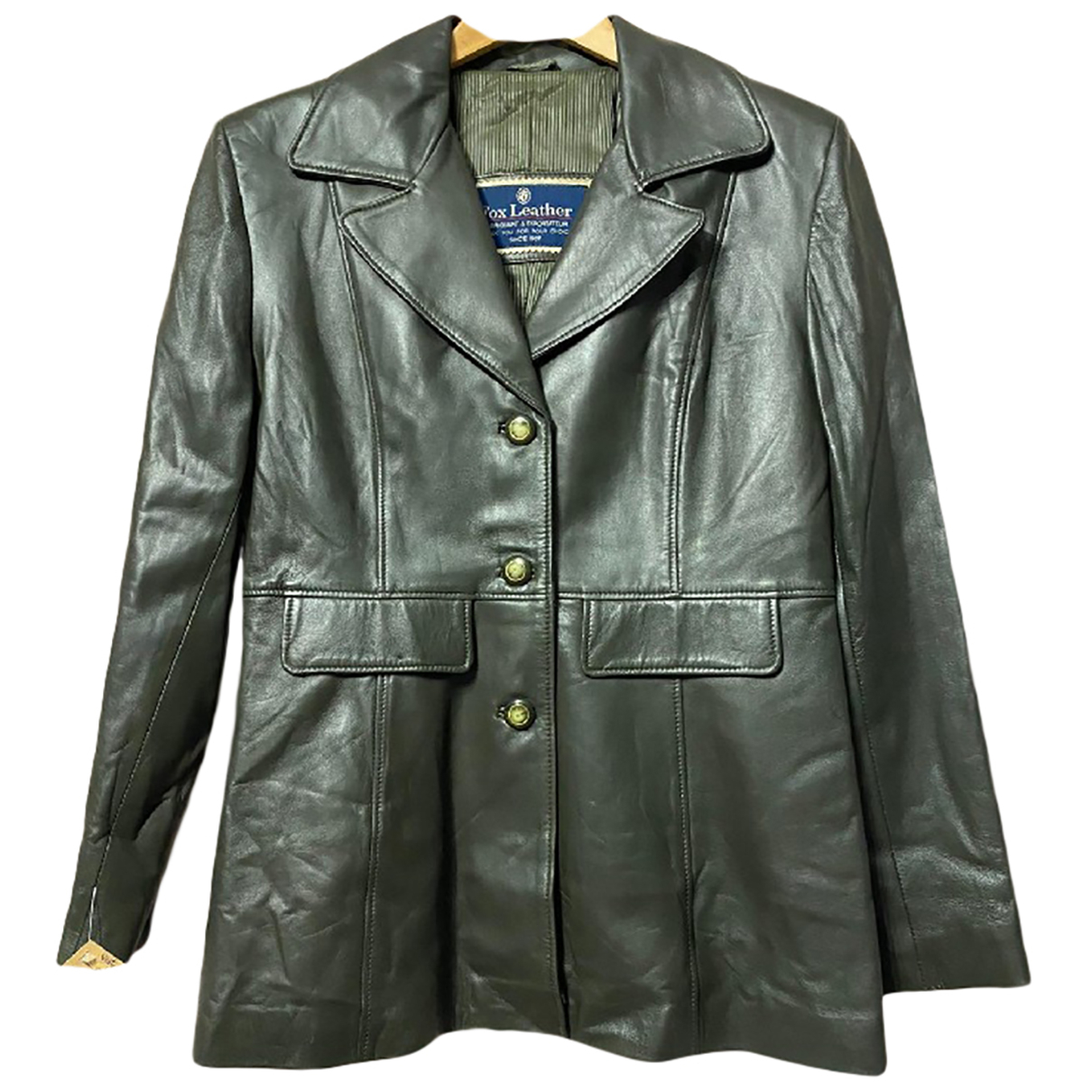 Autre Marque N Khaki Leather jacket for Women 46 FR