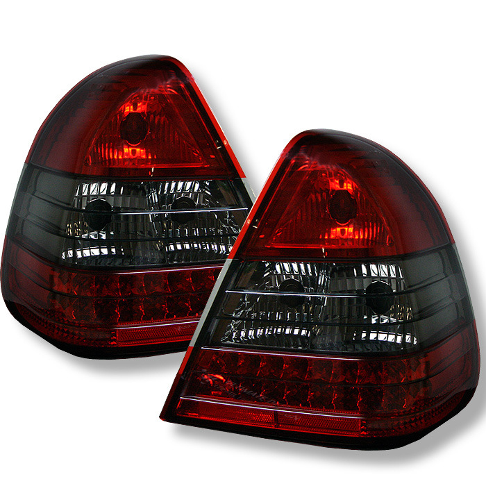 Spyder Auto ALT-YD-MBZC94-LED-RS Red Smoke LED Taillights Mercedes Benz W202 C220 94-00