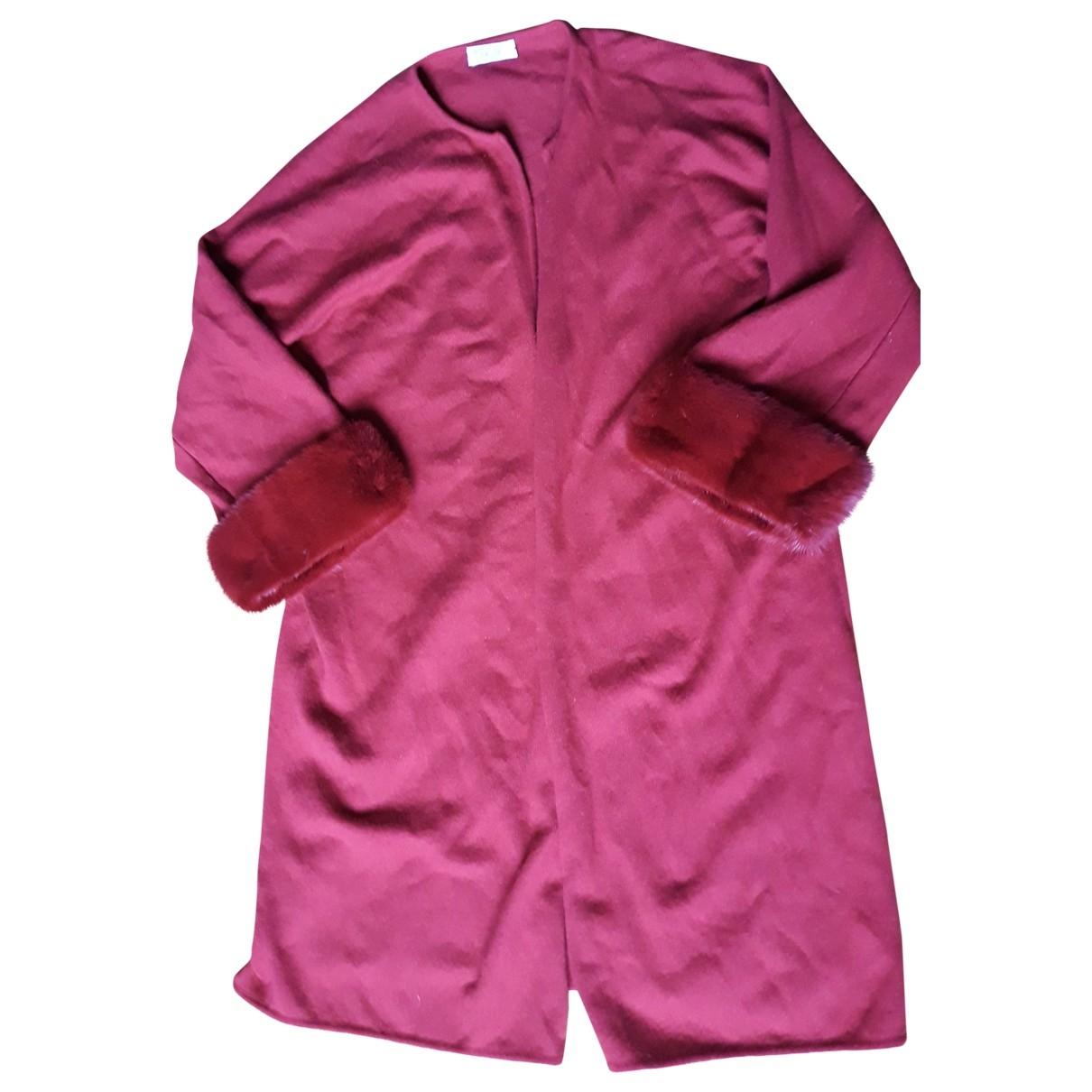 Simonetta Ravizza - Manteau   pour femme en cachemire - bordeaux