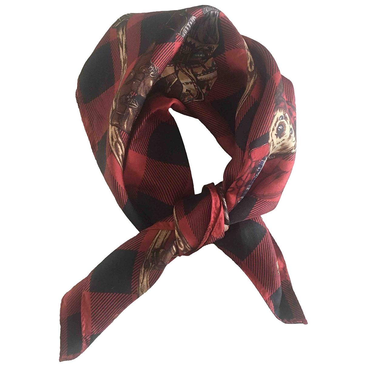 Ralph Lauren - Foulard   pour femme en soie - bordeaux