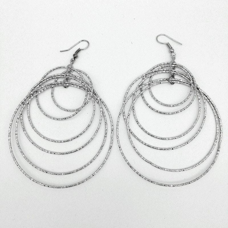 Ericdress Silver Hoop Women Earrings