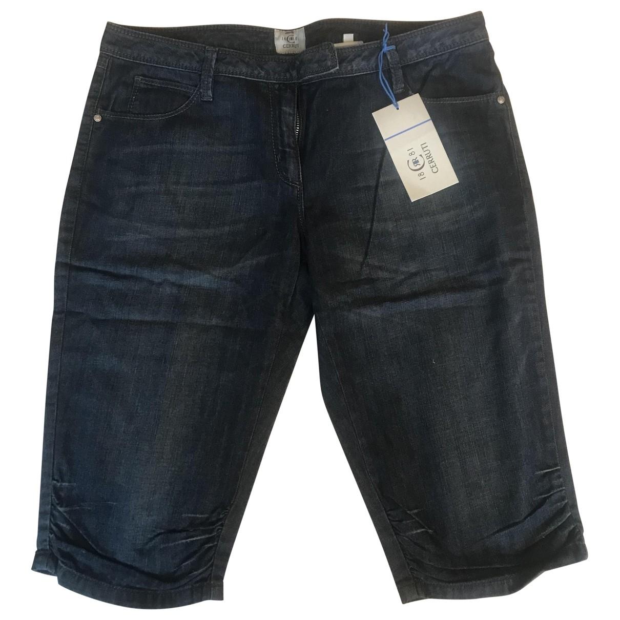 Cerruti \N Blue Cotton Shorts for Women 44 IT