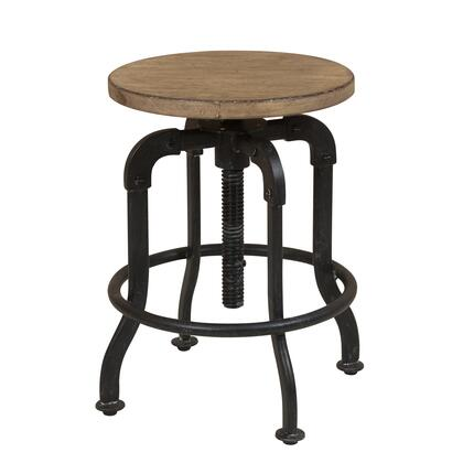 S084172 Flatbush Metal And Wood Adjustable Height Stool In