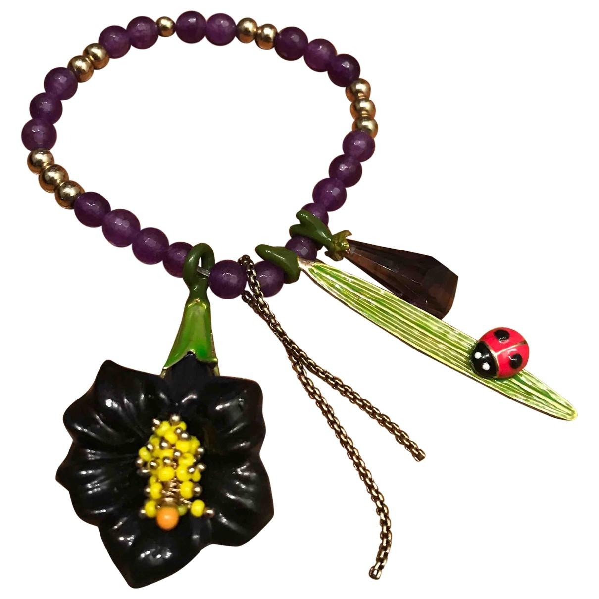 - Bracelet   pour femme en toile - multicolore