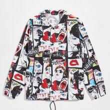 Men Pop Art Print Jacket