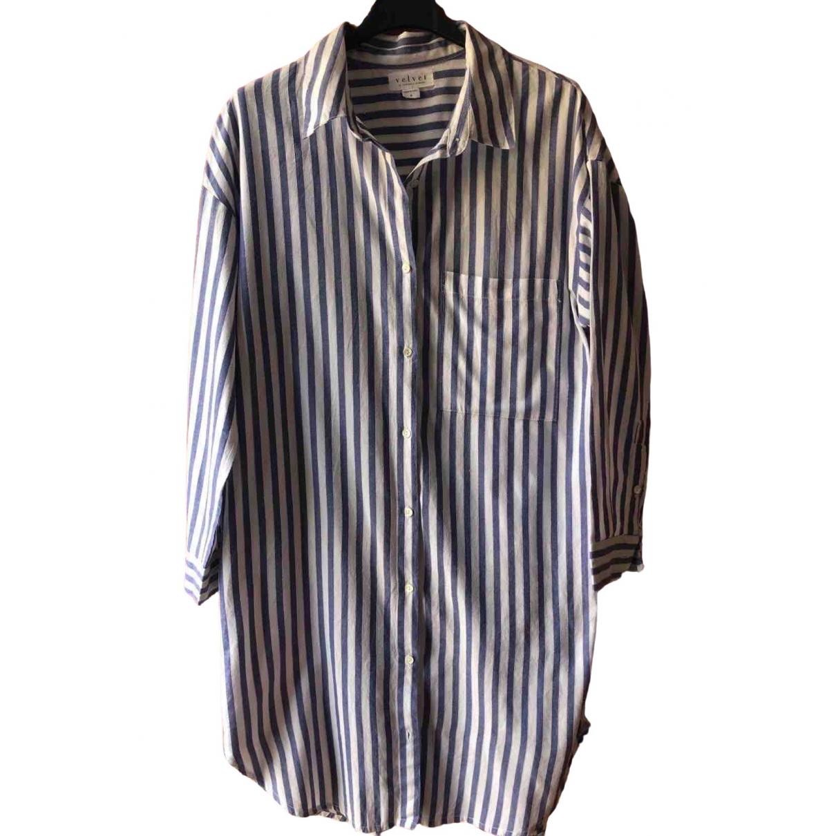 Velvet - Robe   pour femme en coton - multicolore