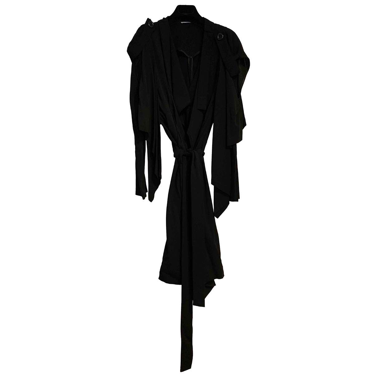 Non Signe / Unsigned \N Trench in  Schwarz Polyester