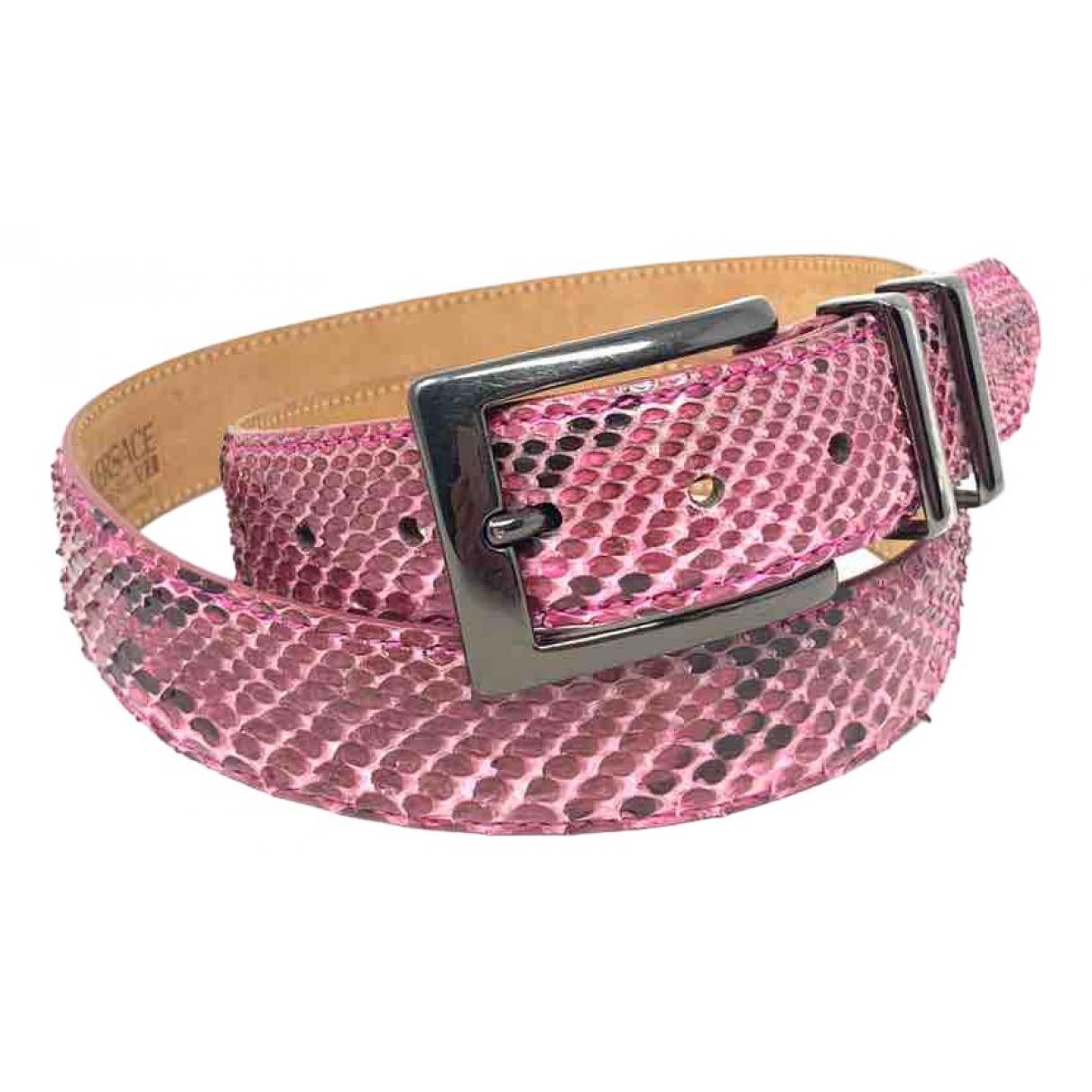 Cinturon de Piton Gianni Versace
