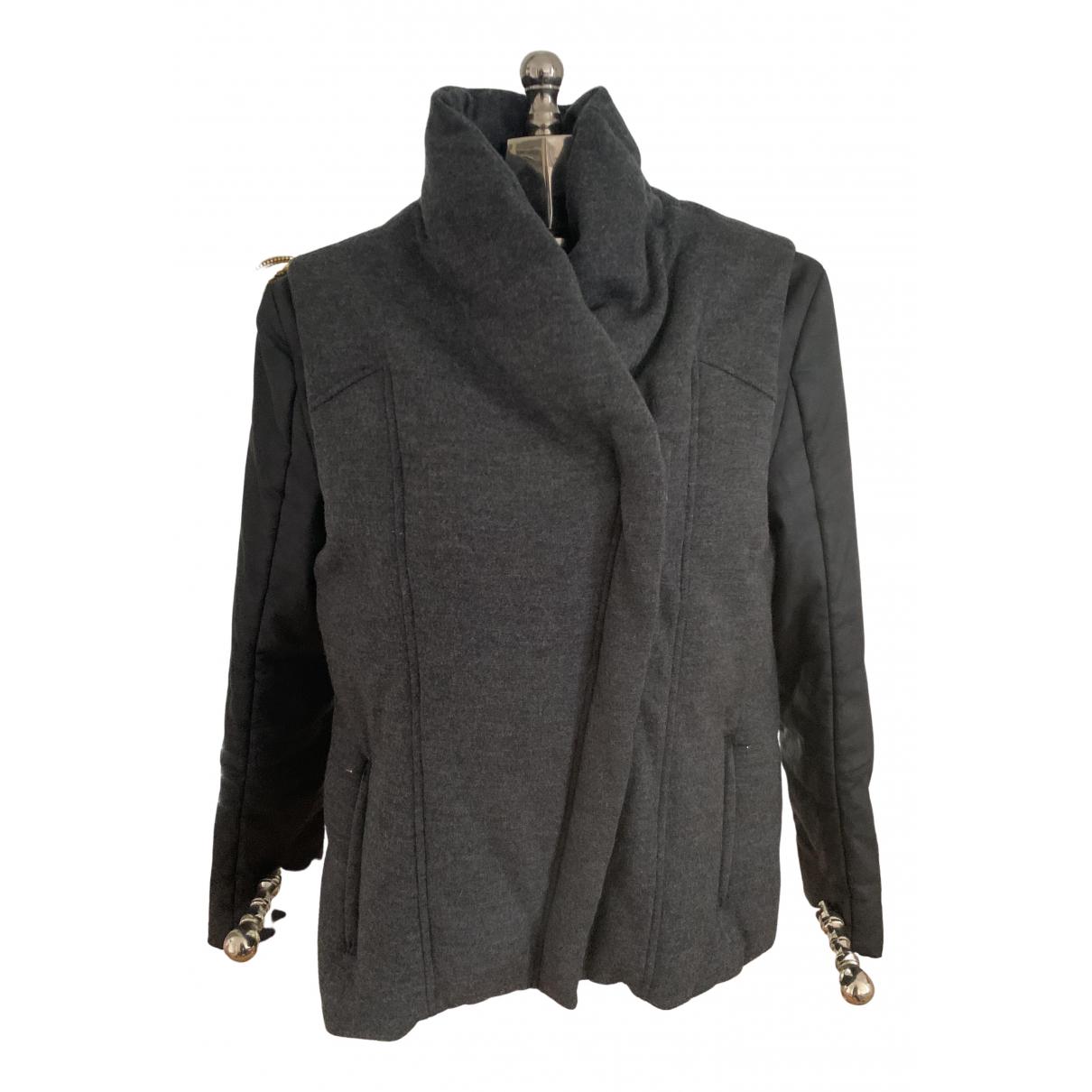 Helmut Lang - Manteau   pour femme en laine - anthracite