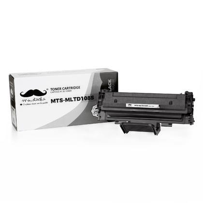 Samsung MLT-D108S cartouche de toner compatible noire pour l'imprimante ML1640/2240 - Moustache®