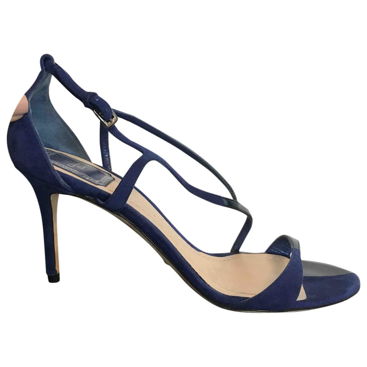 Dior \N Sandalen in  Blau Samt
