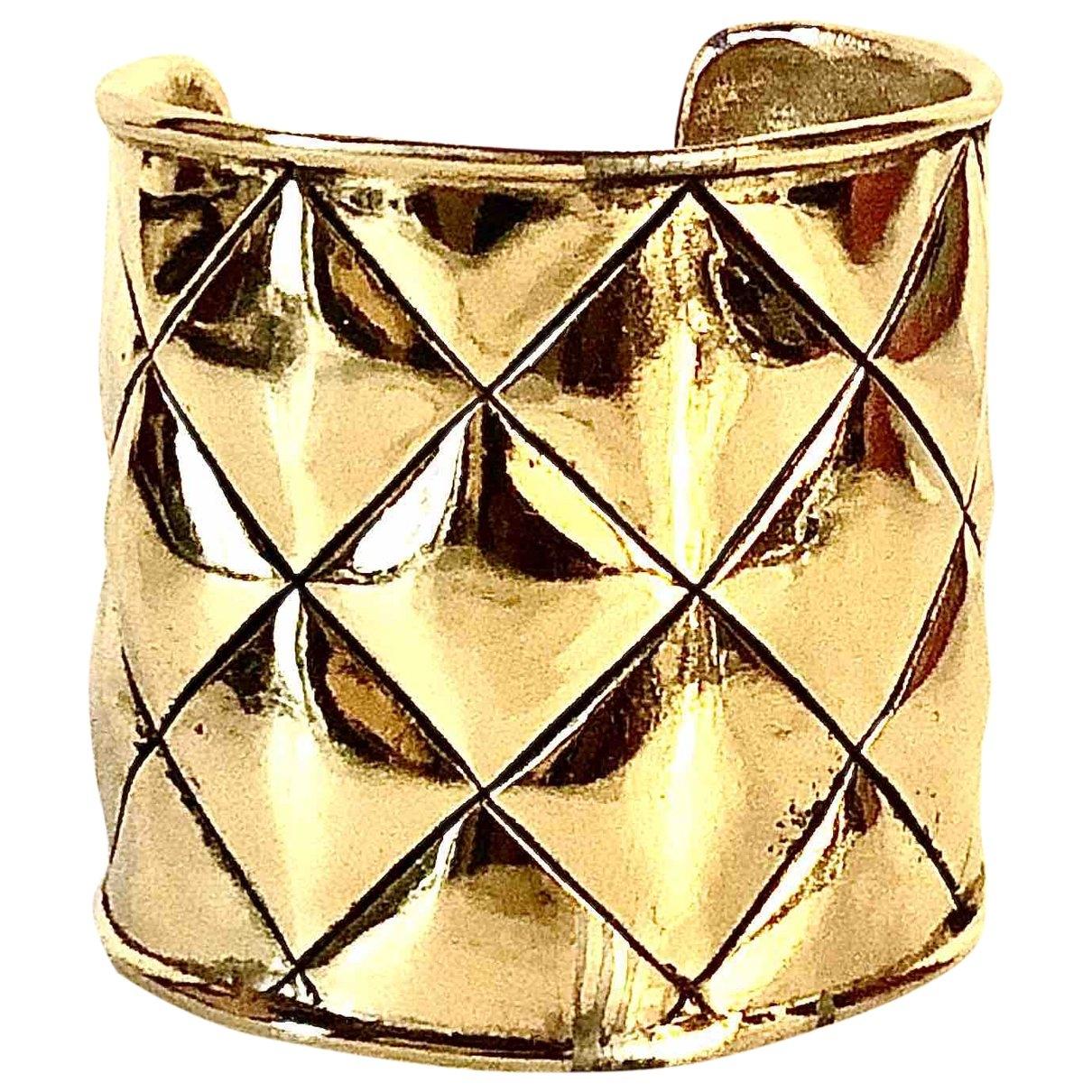 Chanel - Bracelet Matelasse pour femme en metal - dore