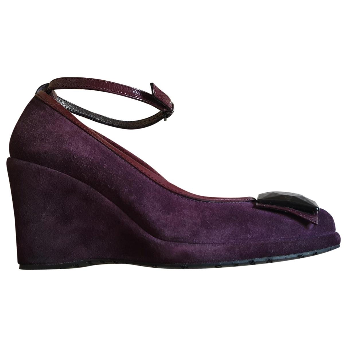 - Escarpins   pour femme en suede - violet