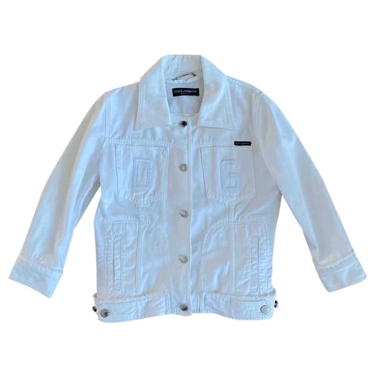 Dolce & Gabbana N White Denim - Jeans jacket for Women 42 IT