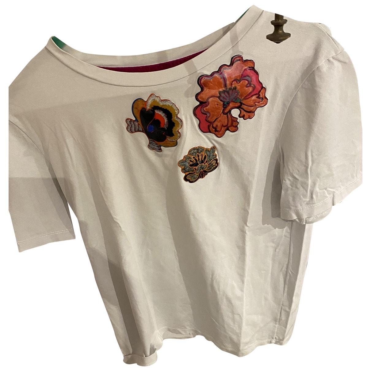 Momoni - Top   pour femme en coton - blanc