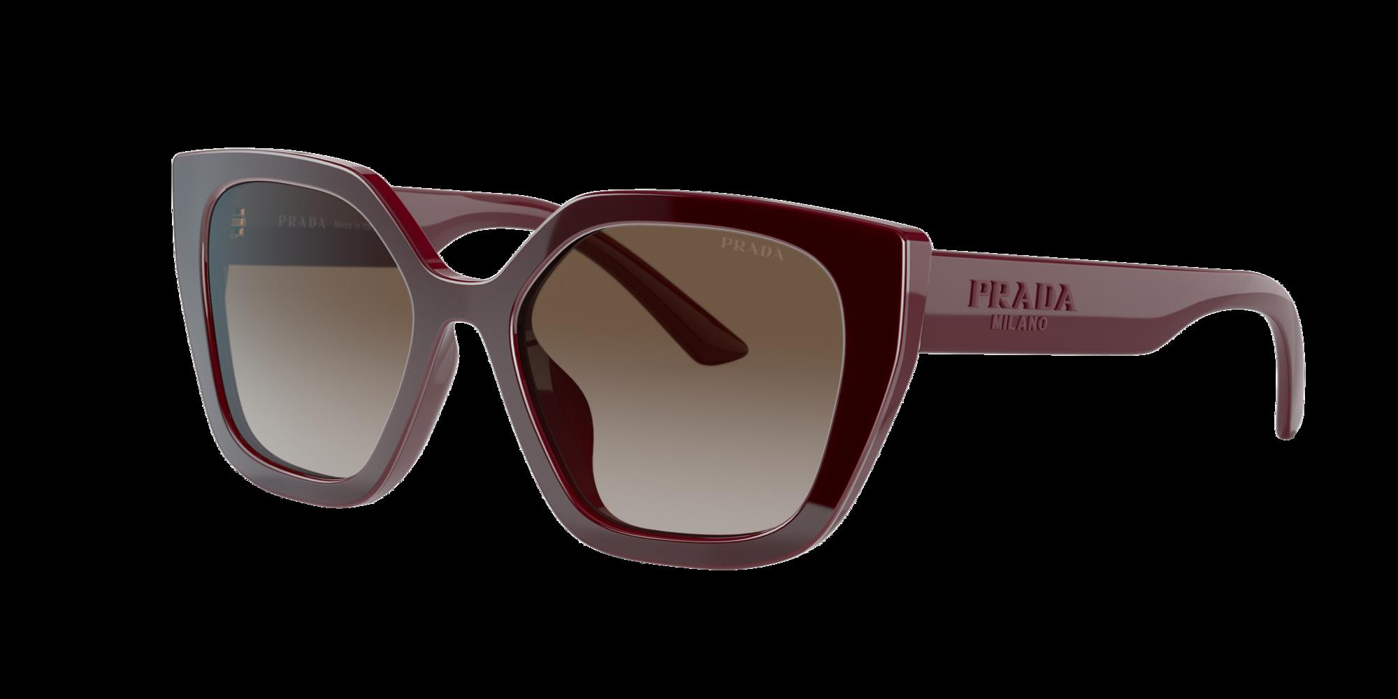 Prada Mann  PR 24XS -  Frame color: Bordeaux, Lens color: Braun