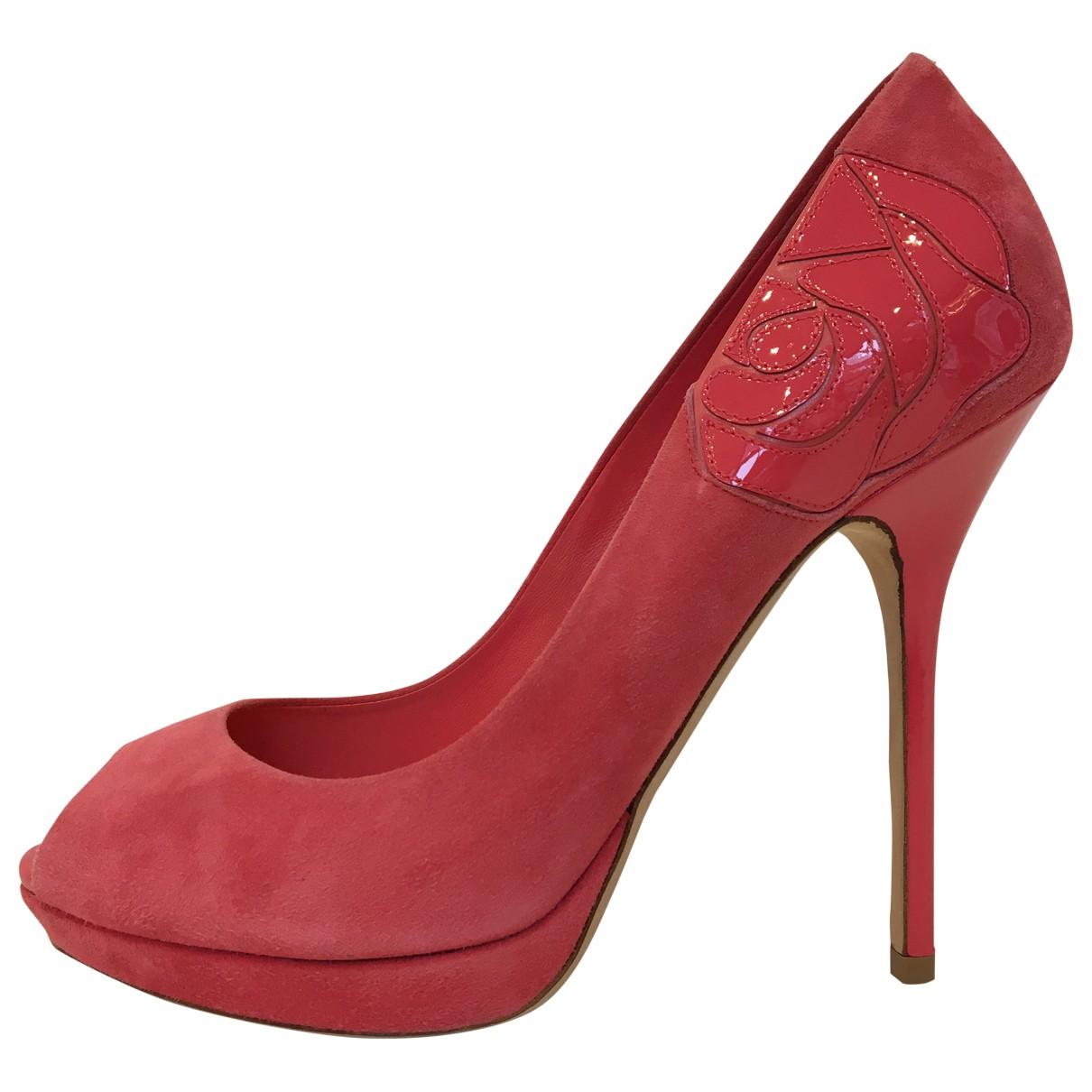 Dior \N Sandalen in  Rosa Veloursleder
