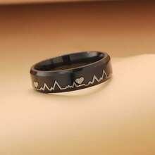Maenner Ring mit Herzschlag Design
