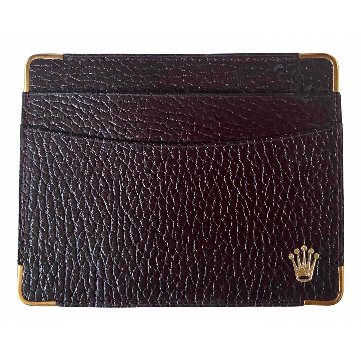 Rolex \N Burgundy Leather Purses, wallet & cases for Women \N