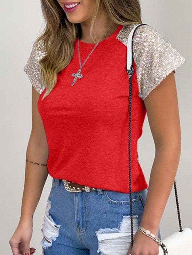 Ericdress Short Sleeve Plain Standard Casual Slim T-Shirt