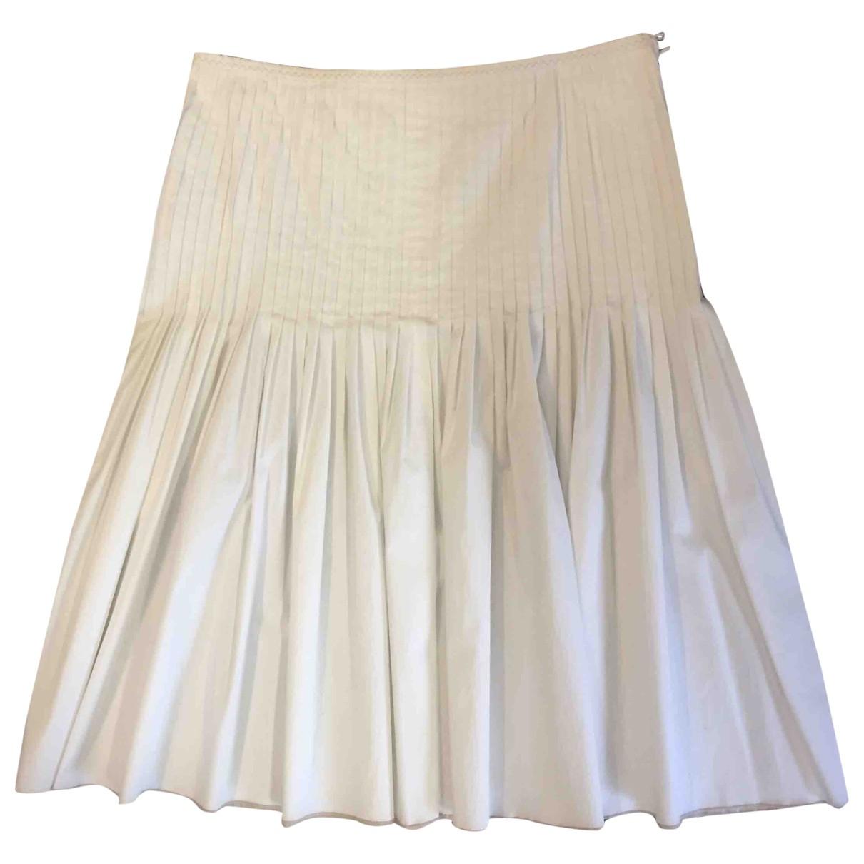 Paule Ka \N White Cotton skirt for Women 40 FR