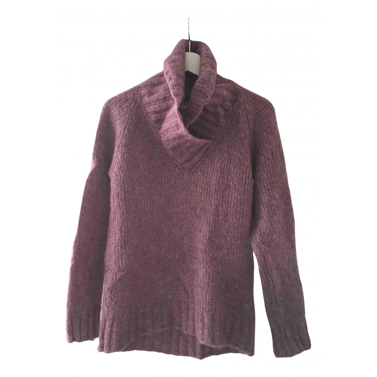 Massimo Dutti - Pull   pour femme en laine - violet
