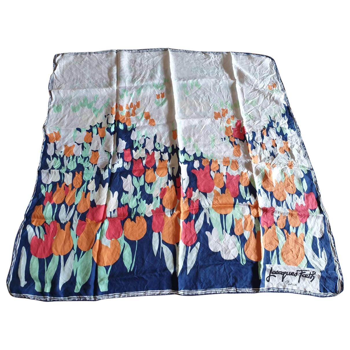 Jacques Fath \N Multicolour Silk Silk handkerchief for Women \N