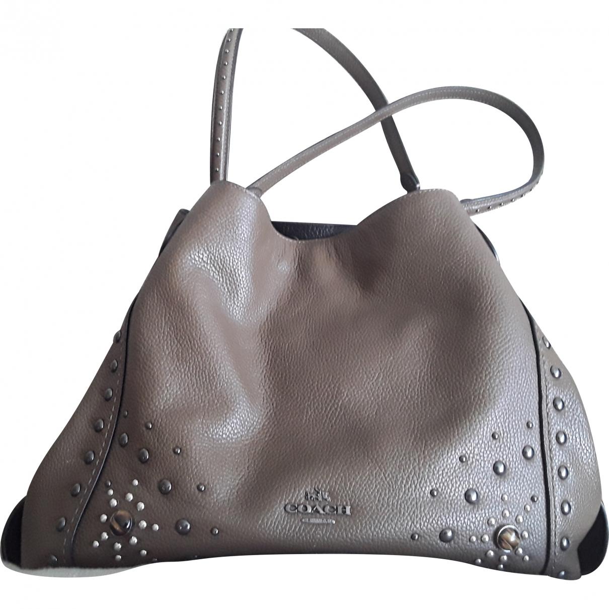 Coach \N Khaki Leather handbag for Women \N