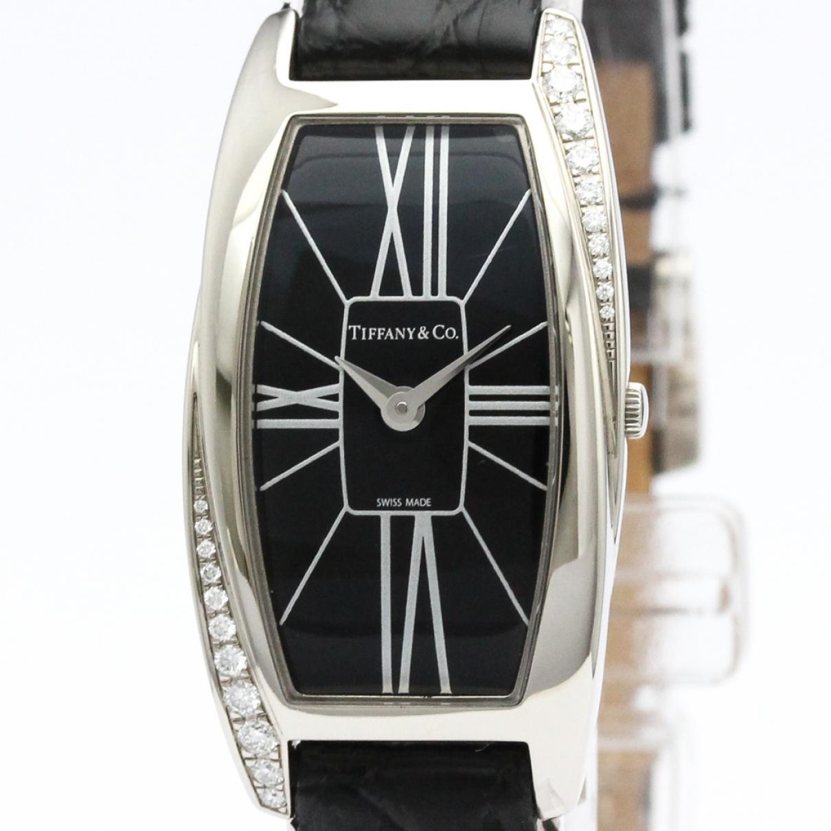 Tiffany & Co \N Black White gold watch for Women \N