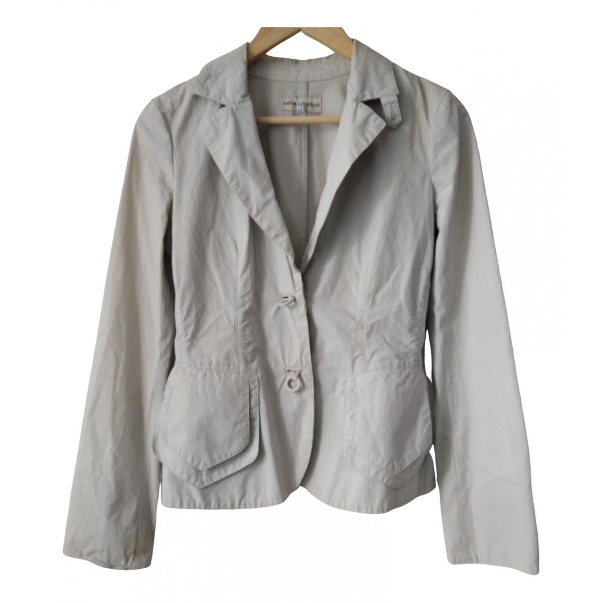 Emporio Armani - Veste   pour femme en coton - beige