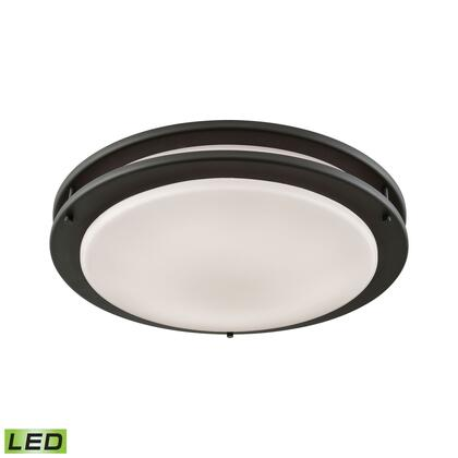 CL782041 Clarion 14-inch LED Flush in Brushed Nickel with a White Acrylic