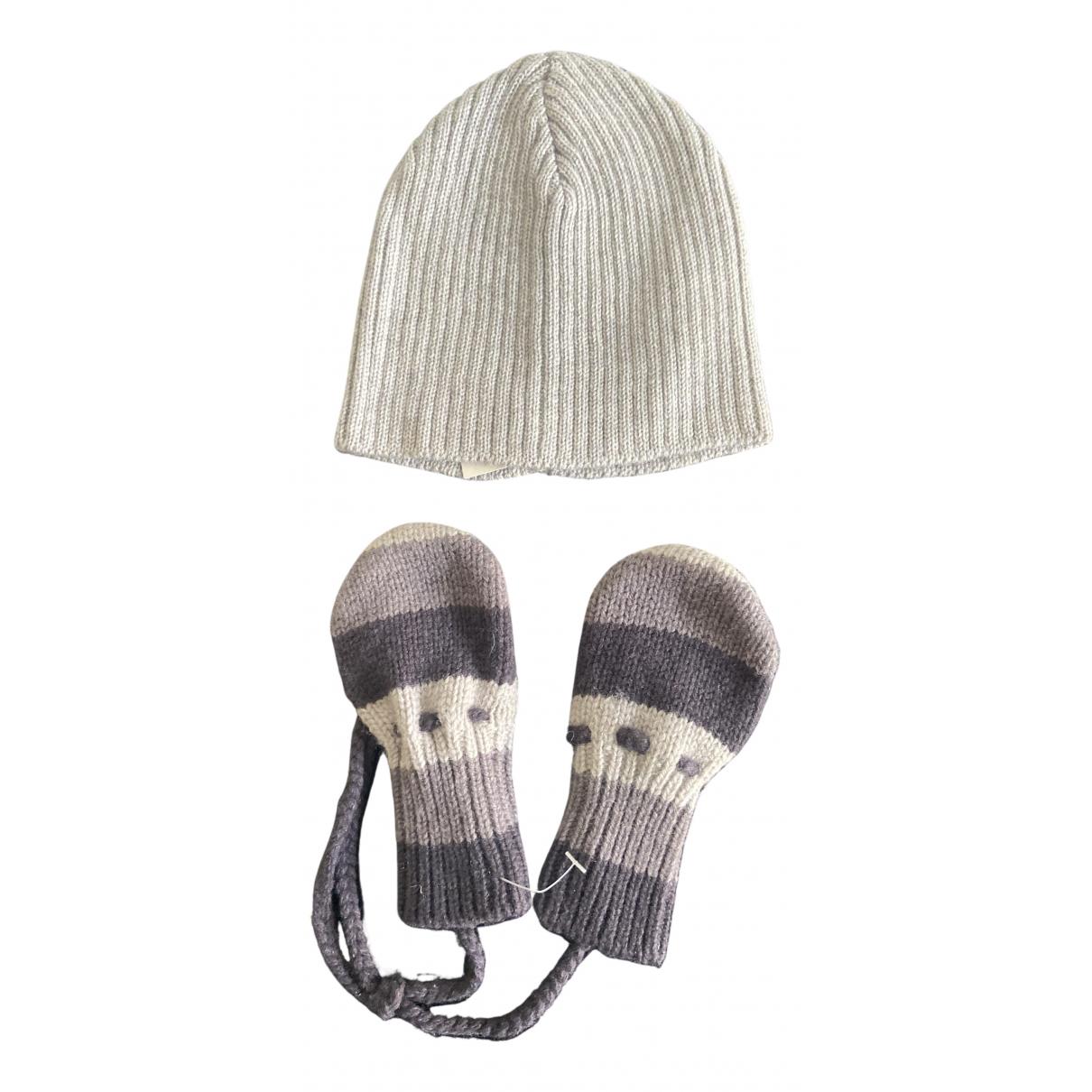 Bonpoint \N Hut, Muetzen, Handschuhe in  Grau Wolle