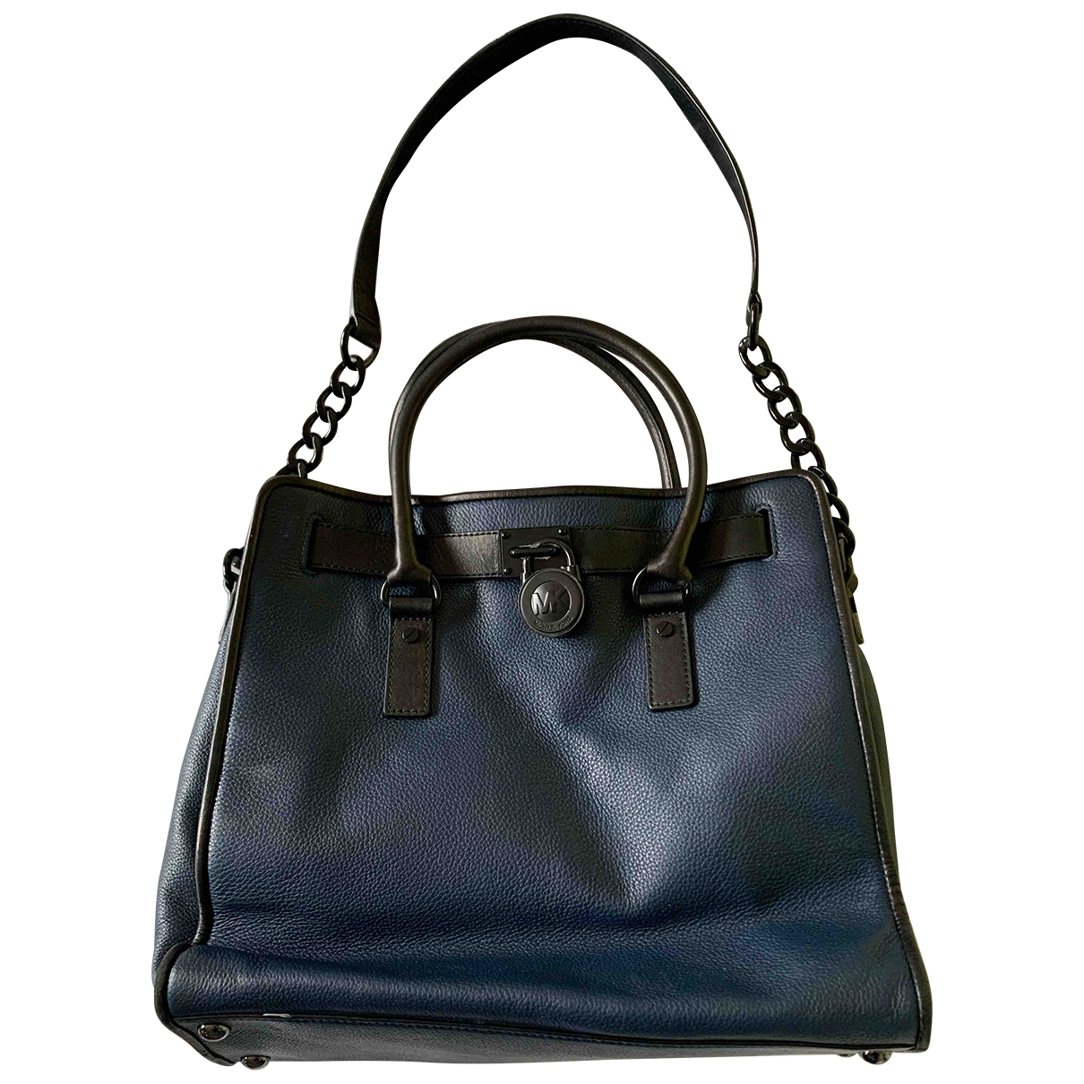 Michael Kors Hamilton Blue Leather handbag for Women \N