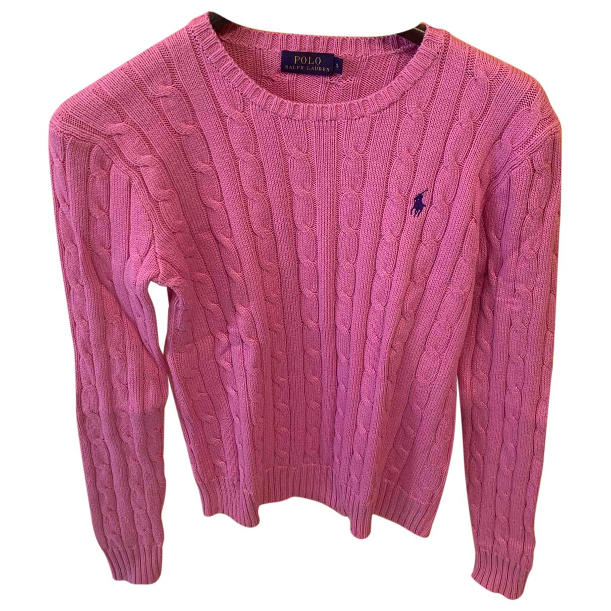 Polo Ralph Lauren - Pull   pour femme en coton - rose