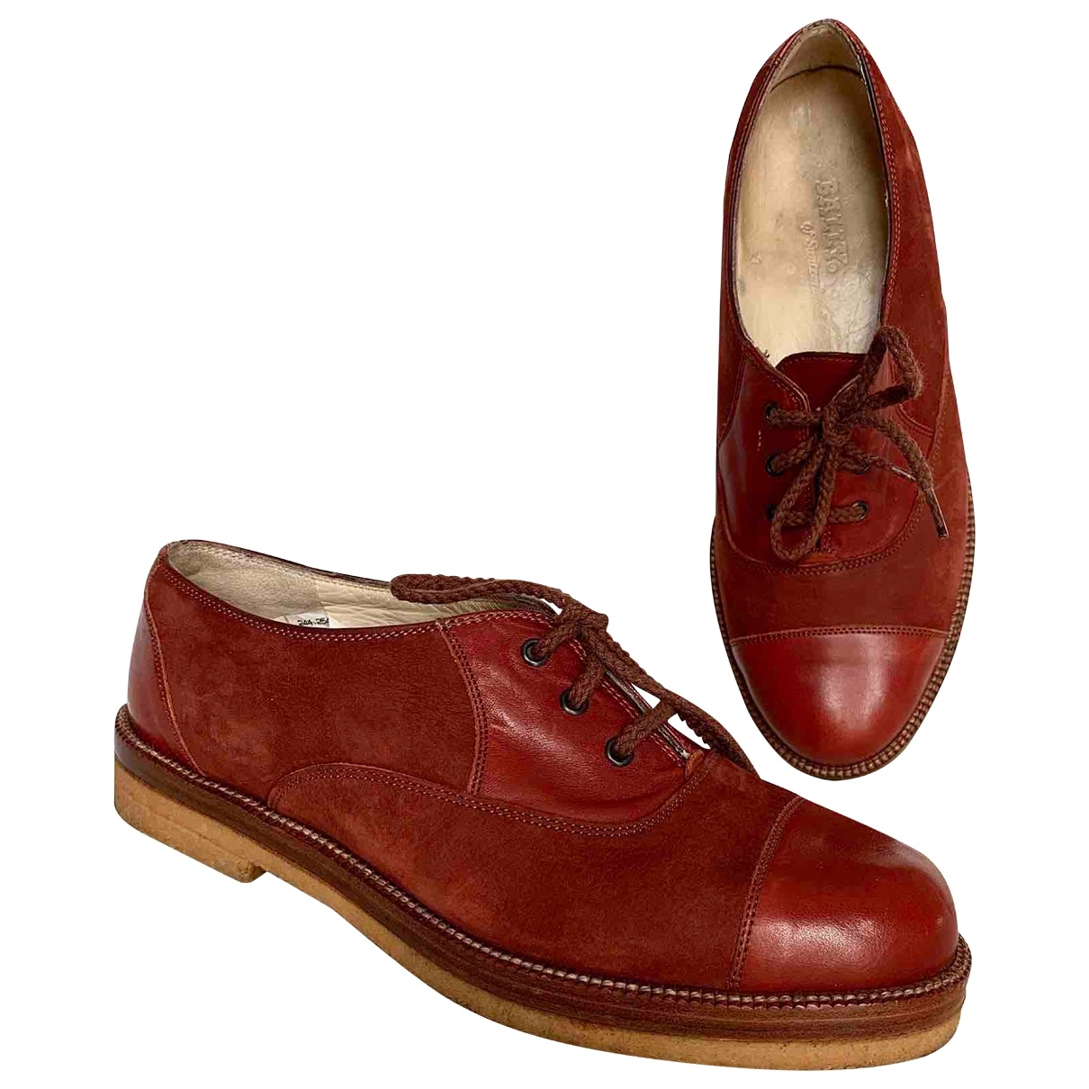 Non Signé / Unsigned \N Camel Leather Lace ups for Women 37 EU