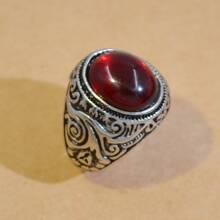 Men Stone Decor Ring