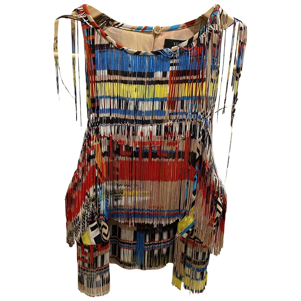 Versace \N Kleid in  Beige Seide