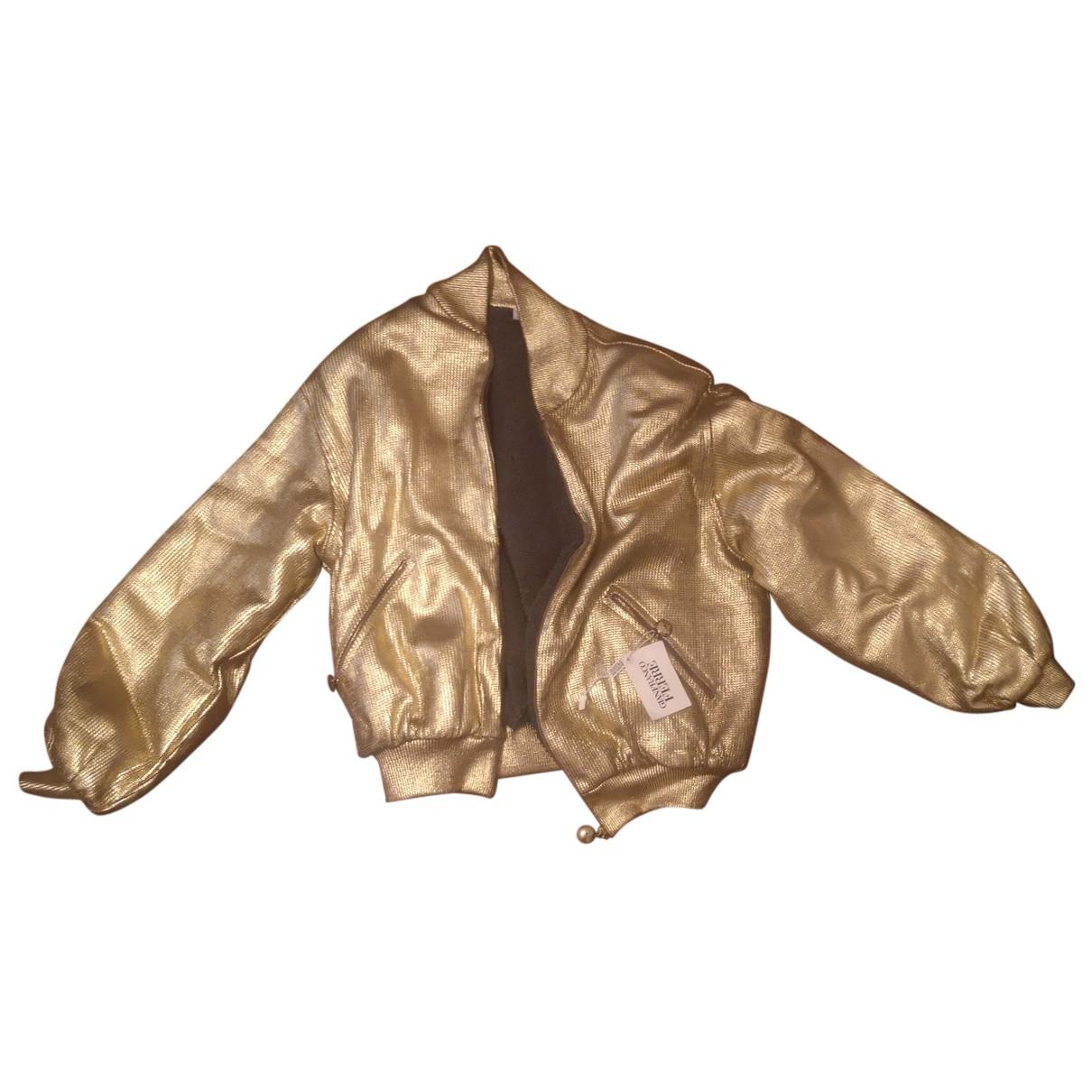 Gianfranco Ferré N Gold jacket for Women 42 IT
