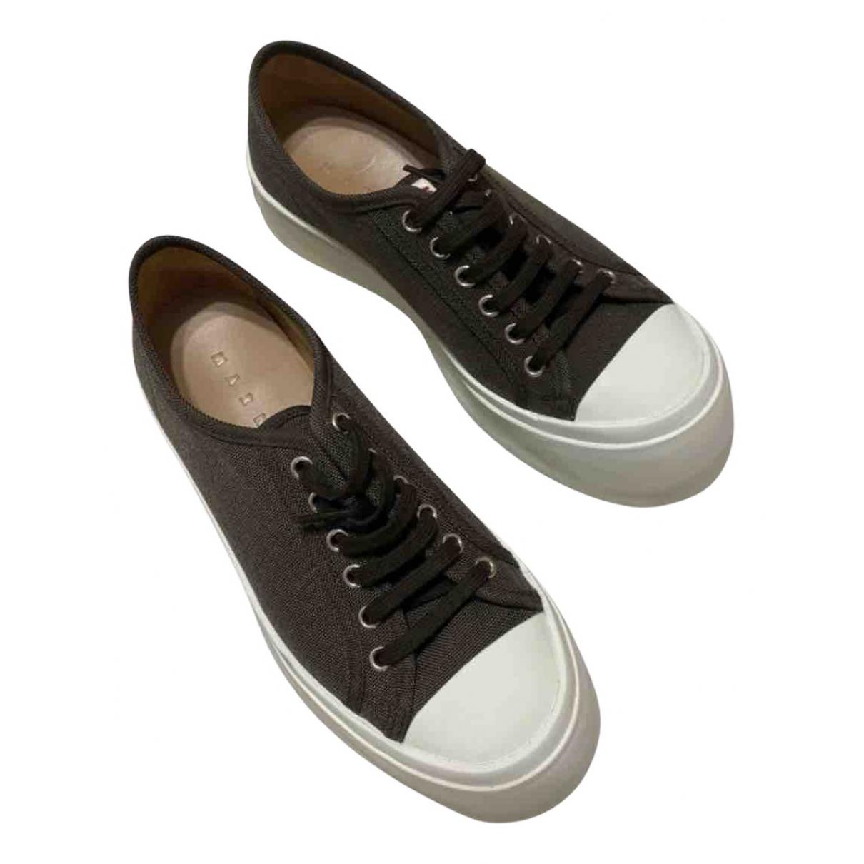 Marni \N Sneakers in  Braun Leinen