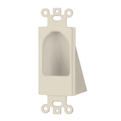 Reverse Nose Decora Plate Black/ Brown/ Ivory / Lite Almond/ White - Monoprice® - Lite Almond