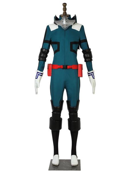 Milanoo Deku Cosplay Costumes Midoriya Izuku Uniform Cloth Jumpsuit My Hero Academia Cosplay