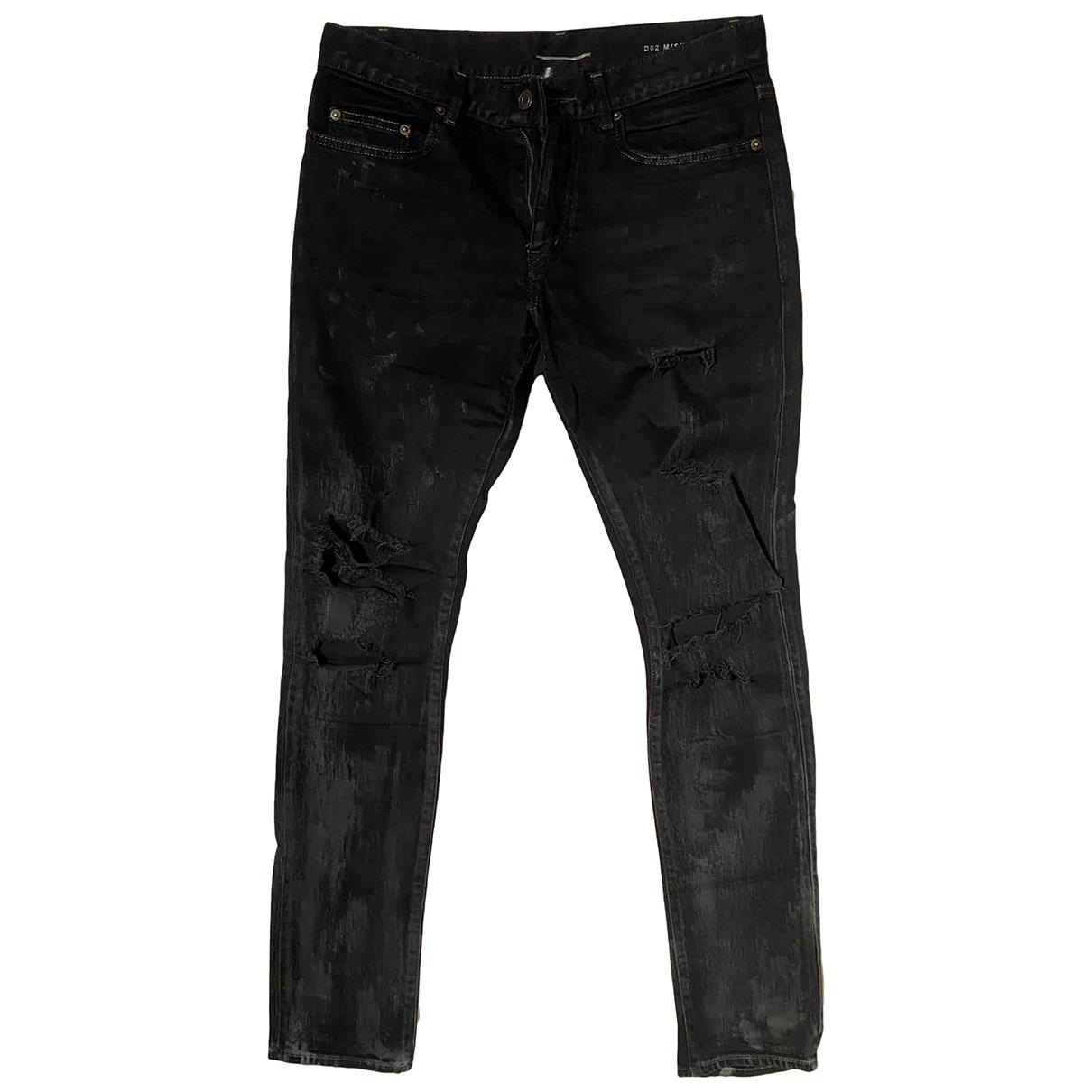 Saint Laurent \N Black Cotton - elasthane Jeans for Men 30 US