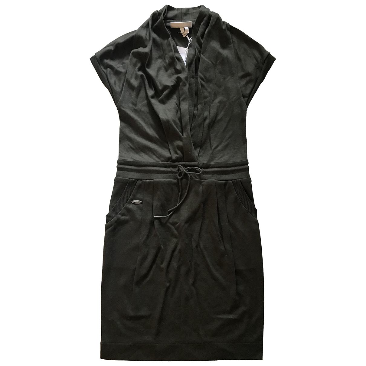 Lacoste \N Kleid in  Khaki Wolle