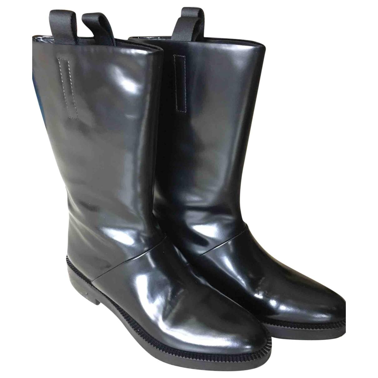Alexander Wang \N Black Leather Boots for Women 38 EU