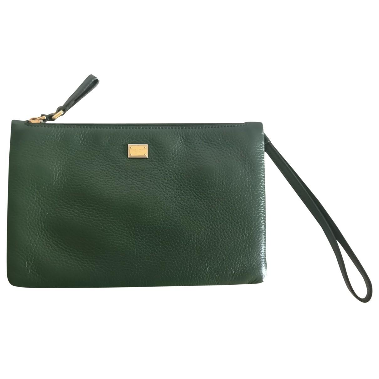 Dolce & Gabbana \N Green Leather Clutch bag for Women \N