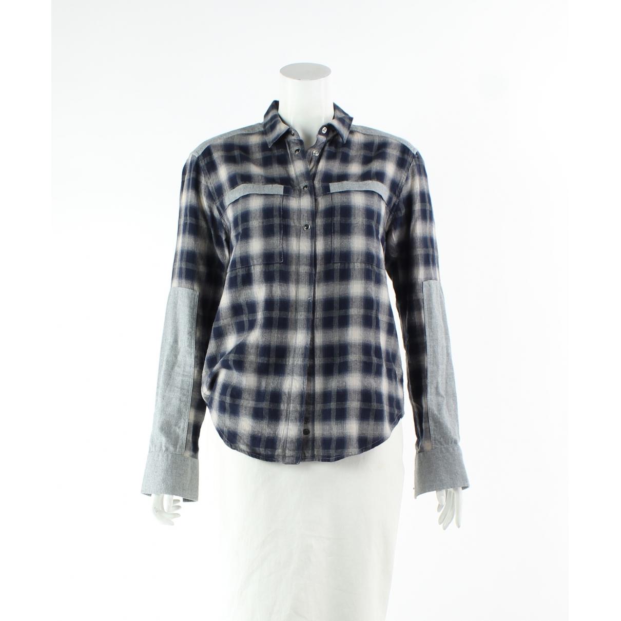Iro - Top   pour femme en coton - bleu